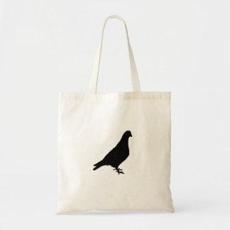Pigeon Silhouette Tote Bag