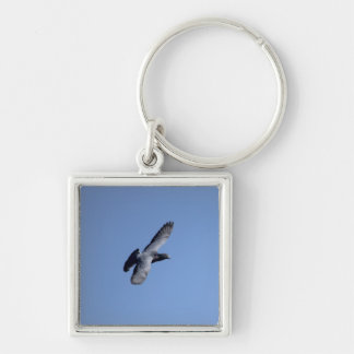 Pigeon Soaring In the Sky Keychain