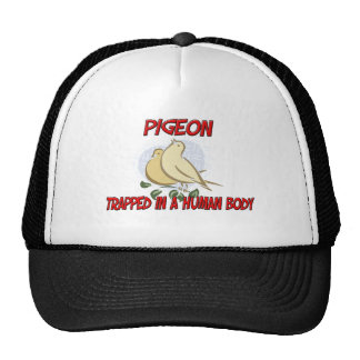 Pigeon trapped in a human body trucker hat