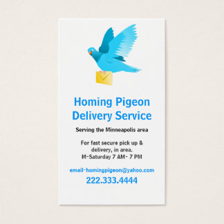 Pigeon with Letter Business Card