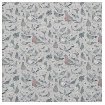 Pigeons Animal Birds Novelty | Fabric Curtain