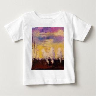 Pigeons at sunset baby T-Shirt