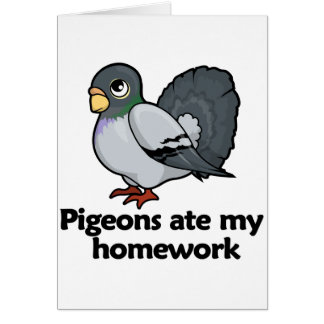 Pigeons ate my homework card