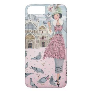 Pigeons Girl in Venice Italy   Iphone 7 plus Case