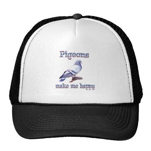 Pigeons Make Me Happy Trucker Hats