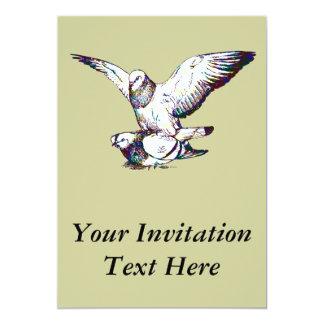 Pigeons Mating Card