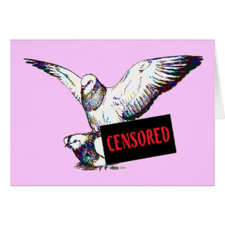 Pigeons Mating:  Censored! Greeting Cards