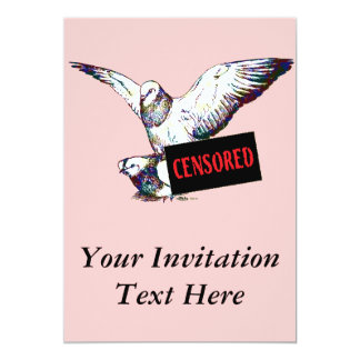 Pigeons Mating:  Censored! Card