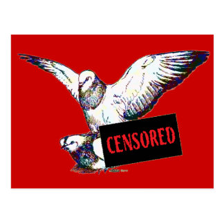 Pigeons Mating:  Censored! Postcard