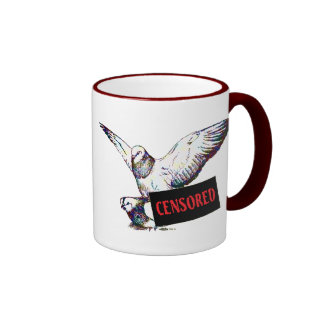 Pigeons Mating:  Censored! Ringer Mug