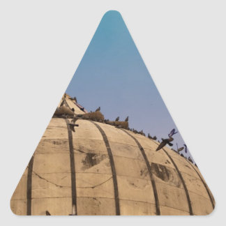 Pigeons on a dome triangle stickers
