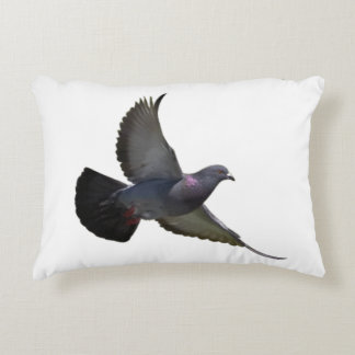Pigeons Peace Love Bird Flying Sky New Beginning Decorative Pillow