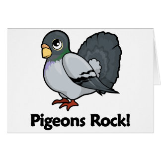 Pigeons Rock! Card