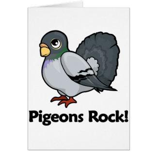 Pigeons Rock! Greeting Card
