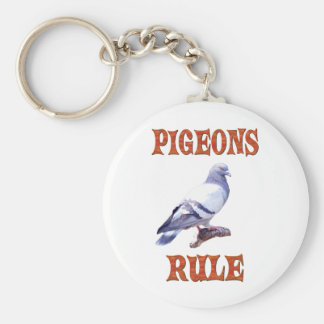 Pigeons Rule Basic Round Button Keychain