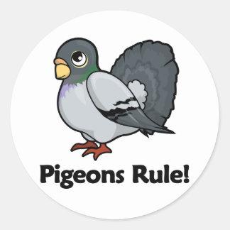 Pigeons Rule! Classic Round Sticker