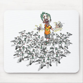 Pigeons scare me by Mudge Studios Mouse Pad