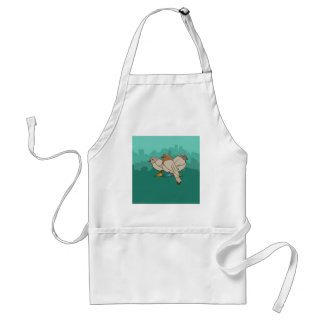 Pigeons With Sneakers Funny Photo Graphic Design Adult Apron