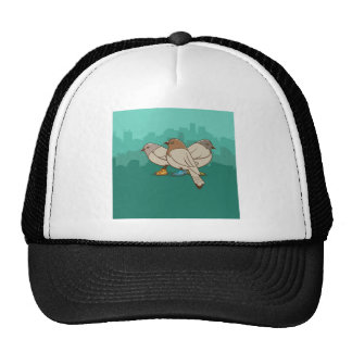 Pigeons With Sneakers Funny Photo Graphic Design Trucker Hats
