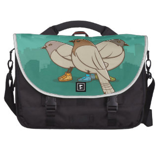 Pigeons With Sneakers Funny Photo Graphic Design Laptop Computer Bag