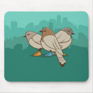 Pigeons With Sneakers Funny Photo Graphic Design Mouse Pads
