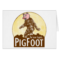 Greeting Card with Funny Bigfoot with Mustache: Stache Squatch design