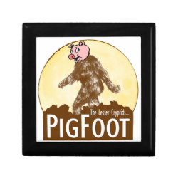 Small Gift Box 5.125' Square w/4.25' Tile with Funny Bigfoot with Mustache: Stache Squatch design