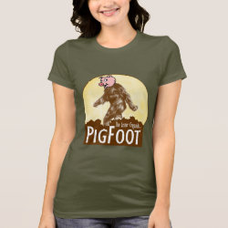 Women's Bella Jersey T-Shirt with Funny Bigfoot with Mustache: Stache Squatch design