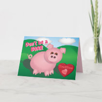 Piggie with Truffles Holiday Card