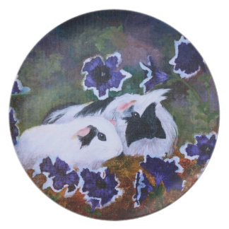 Piggies In The Garden Melamine Plate