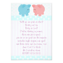 Piggies of Pink and Blue Invitation