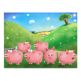 Piggies Tarjetas Postales