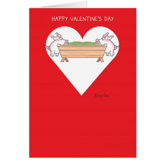 PIGGING OUT Valentines by Boynton Card