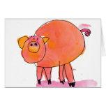 Piggle • Sarah Bowen, Age 7 Greeting Card