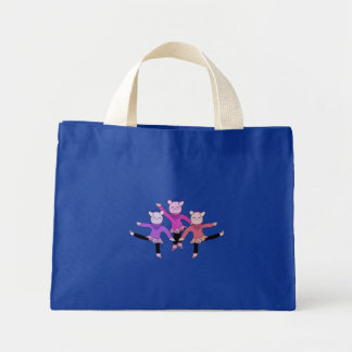Piggly Ballerina Dancing Canvas Bag