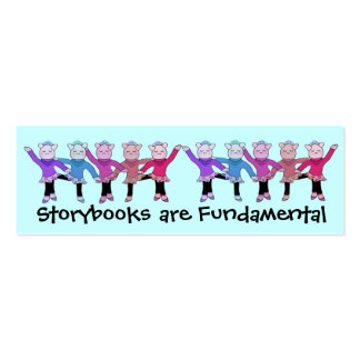 Piggly Wiggle Ballerina Bookmarks Business Card Templates