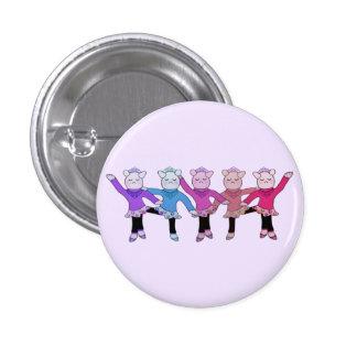 Piggly Wiggle Chorus Line 1 Inch Round Button