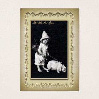 Piggy and I Mini Postcard Profile Card
