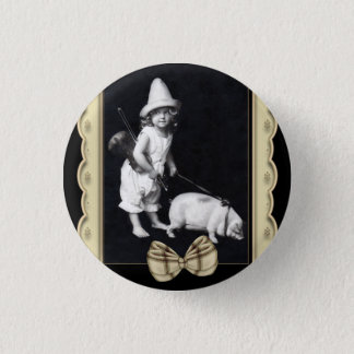 Piggy and I Vintage Photography Round Buttons