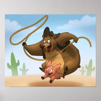 Piggy-Back Poster print