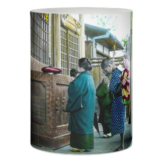 Piggy Backing to Prayer Time at Local Temple Japan Flameless Candle