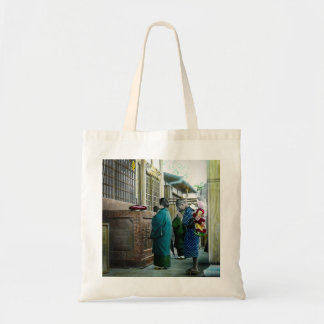 Piggy Backing to Prayer Time at Local Temple Japan Tote Bag