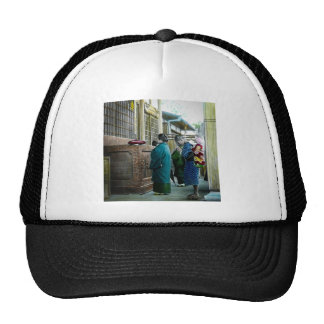 Piggy Backing to Prayer Time at Local Temple Japan Trucker Hat
