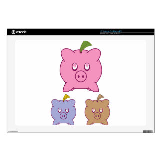 "Piggy Bank 17"" Laptop Decals"