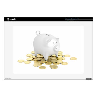"""Piggy bank and coins skin for 15"""" laptop"""