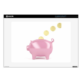 """Piggy bank and coins skins for 15"""" laptops"""