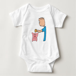 Piggy Bank Baby Bodysuit