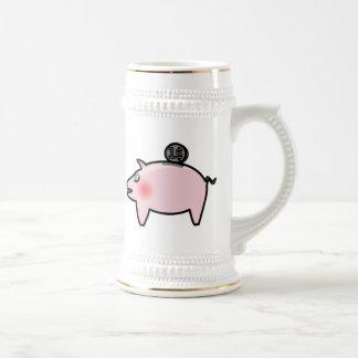 Piggy Bank Beer Stein