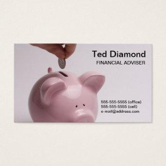 Piggy Bank Bront & Back Business Cards