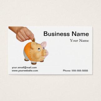 Piggy bank business card